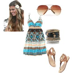 boho chic, created by michellej-1983 on Polyvore
