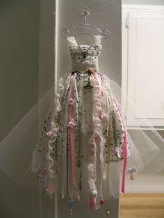 Spring Blossom Miniature Dress Wall Hanging. $57.00, via Etsy.