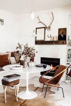 Un intérieur rustique et éclectique: chez Kara Rosenlund - L'appartement Living - A life & style blog