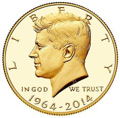 Kennedy Gold Coin 1964-2014