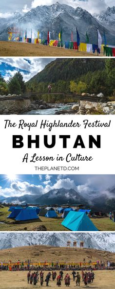 The Royal Highlander Festival is the newest Bhutan festival. Known as the happiest country on earth, Bhutan knows how to celebrate life. Festivals dominate the land and it's easy to see why the Bhutanese measure life with a happiness index over the wester Wanderlust Travel, Asia Travel, Travel Inspiration, Travel Ideas, Travel Tips, Travel With Kids, Family Travel, Literary Travel, Celebrate Life