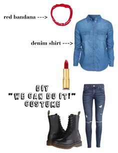 dress like a feminist icon! Cute Costumes, Costume Ideas, Halloween Costumes, Rosie The Riviter, Raven Costume, Feminist Icons, Red Bandana, We Can Do It, Halloween Stuff
