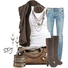 """""""Shades of Brown"""" by s-p-j on Polyvore"""