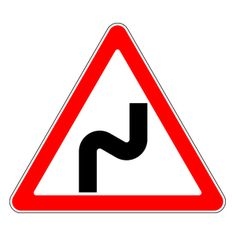 An overview of the warning signs of Russia. Learn all traffic signs with the free practice questions. All Traffic Signs, Driving Theory, Warning Signs, Russia, Curves, Letters, Learning, School, Traffic Sign