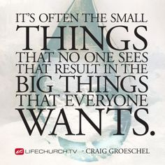 Small Things Big Difference Week 1 #lifechurchtv