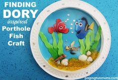 Finding Dory Inspired Porthole Fish Craft