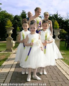 Cute young bridesmaids