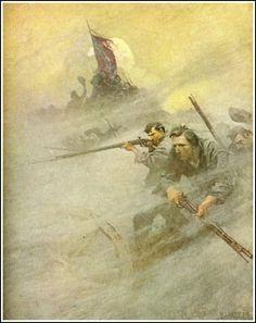 NC Wyeth Illustrations | nc wyeth civil war the long roll illustration art