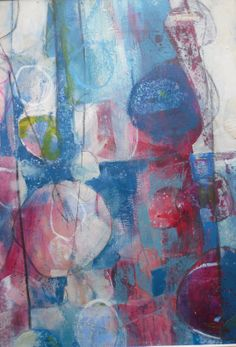 Working it out. Acrylic and mixed media on paper.