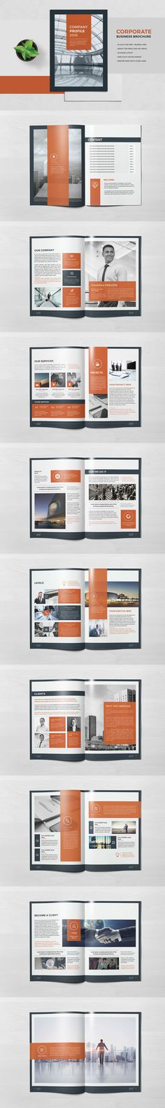 Corporate Business Brochure Template InDesign INDD - 20 Pages