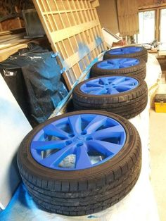 Plasti Dip Wheels, hoping to do this to my wheels soon. In black.