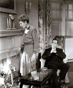 "Mary Astor and Humphrey Bogart in ""The Maltese falcon""."