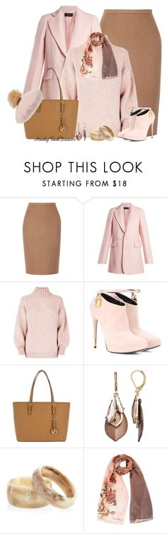 """""""Pink and Brown"""" by honkytonkdancer ❤ liked on Polyvore featuring MaxMara, Joseph, Tom Ford, Michael Kors, Simply Vera, Ben-Amun, Laura Biagiotti, NYC Underground, officewear and pinkandbrown"""