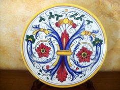 Wall plate #RiccoDeruta. Hand painted #Majolica #Italy http://ceramicamia.blogspot.it/