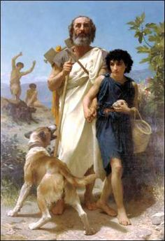 Homère et son guide par BOUGUEREAU © Milwaukee Museum