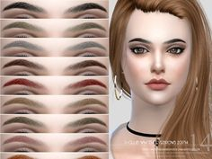 Eyebrows, 15 swatches, hope you like, thanks!  Found in TSR Category 'Sims 4 Facial Hair'