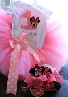 Minnie mouse girl outfit  Birthday outfit  by CuteCraftingCorner