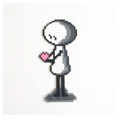 Nonnetta - Love perler beads by perler_beads_in_my_heart
