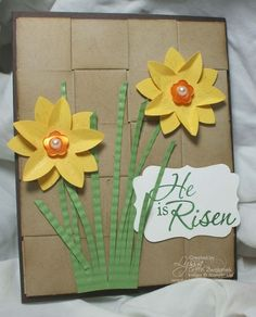 Easter Punch art and basket weave by Song of My Heart Stampers