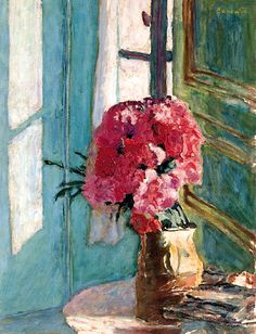 Pierre Bonnard (1867-1947) Les oeillets  I found this today- made my heart melt....