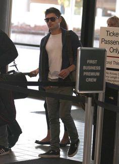 Zac Efron departing LAX for Toronto ~ September 8, 2012
