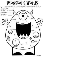 Monster Madness Unit - Julie Lee - TeachersPayTeachers.com