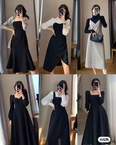Fancy Blouse Designs, Stylish Dress Designs, Stylish Dresses, Simple Dresses, Cute Casual Outfits, Pretty Outfits, Pretty Dresses, Beautiful Outfits, Korean Fashion Dress
