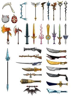 Sacred Seasons 2 Weapons Sheet by ~Kyomu on deviantART