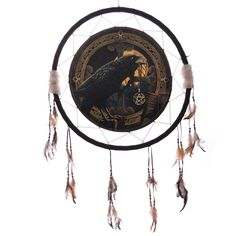 Decorative Magical Raven Talisman 60cm Dreamcatcher Dreamcatchers are a great way to add colour and design to your home or workplace Made from a