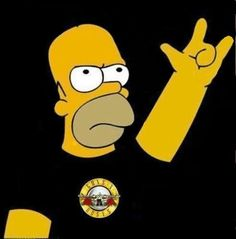 Homer Simpson loves rock and roll, do you?