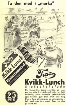 Kvikk Lunsj – The Ultimate Norwegian Hiking Snack Commercial Advertisement, Ads, Hot Chocolate Sauce, History Of Chocolate, Lost In The Woods, Retro Recipes, Norway, Hiking, The Incredibles