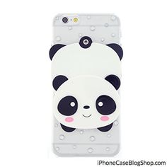 CaseBee  Cute Panda w/ Mirror iPhone 6 (4.7) Case (Package includes Screen Protector)