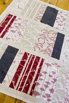 The Allsorts Quilt Kit - Dusty Pink, Red & Charcoal The Allsorts Quilt - Dusty Pink, Red & Charcoal Hey guess what! The Allsorts Quilt Kit. Strip Quilts, Easy Quilts, Mini Quilts, Quilt Blocks, Quilting Tutorials, Quilting Projects, Quilting Designs, Sewing Projects, Nancy Zieman