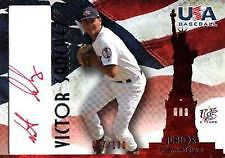 07 USA Baseball RC Auto VICTOR SANCHEZ RED #25/100