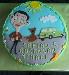 mr bean Mr Bean Cake, Bean Cakes, Mr Bean Birthday, 4th Birthday Parties, Dog Cakes, Girl Cakes, Mr Bean Cartoon, Mr. Bean, Kids Party Themes
