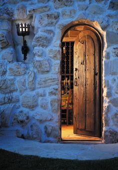 Wine cellar door...
