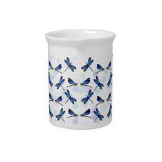 blue dragonflies pitcher