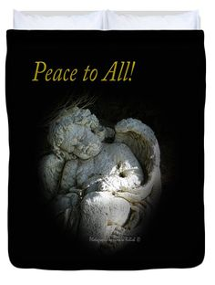 "Sleeping Cherub 1 Peace to All Queen (88"" x 88"") Duvet Cover by Tamara Kulish"