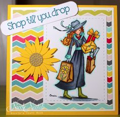 Shop til you drop by nmnastali - Cards and Paper Crafts at Splitcoaststampers Stamp Collecting, 4th Birthday, Note Cards, I Card, About Me Blog, Vogue, Paper Crafts, Drop, Heart