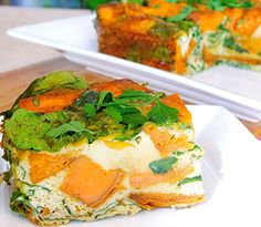 A simple dairy free, clean eating frittata recipe perfect for lunch or a light dinner Veggie Frittata, Frittata Recipes, Clean Eating Results, Roasted Capsicum, Vegetarian Recipes, Healthy Recipes, Savoury Recipes, Roasted Sweet Potatoes, Dairy Free