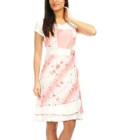 Pink & White Floral Scoop Neck Dress - Women & Plus #zulily #zulilyfinds