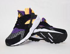 #Nike Air Huarache Yellow Purple #sneakers