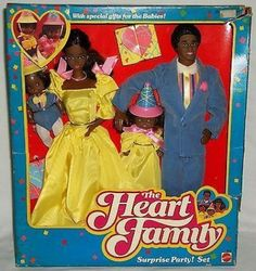 1986 Heart Family Surprise Party! Ustaw (Czarny), Barbie Kolekcja Barry'ego
