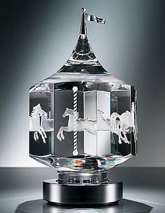 Steuben Carousel - crystal and silver, $ 5,800