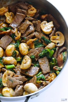Ginger Beef, Mushroom And Kale Stir-Fry | Best Recipes Ever - recommend more kale!