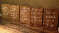 1 corinthians love never fails pallet signs