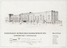 Stalinallee, Nationales Aufbauprogramm, 1952, Wohnblock B-Nord, Stalinallee