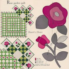 Vintage Applique Quilt Pattern From the by MerrittsCloset on Etsy