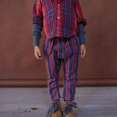 Button Front PANTS for kids Size 2 Stripe. $54.00, via Etsy.