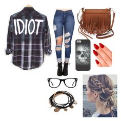 """idiots make me wonder"" by bre-fab ❤ liked on Polyvore featuring mode, Rebecca Minkoff, eylure, Muse et Forever 21"